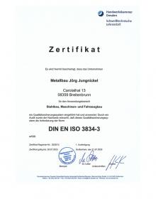Qualitätssicherung ZERT ISO 3834